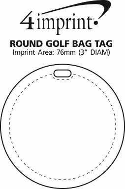 Imprint Area of Round Golf Bag Tag
