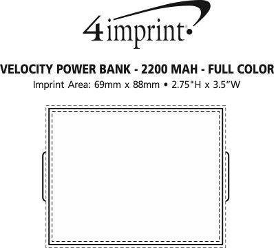 Imprint Area of Velocity Power Bank - Full Colour