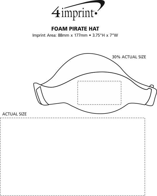 Imprint Area of Foam Pirate Hat