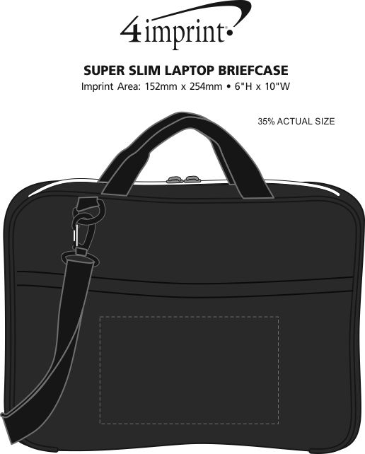 Imprint Area of Super Slim Laptop Briefcase