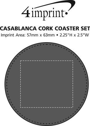 Imprint Area of Casablanca Coaster Set