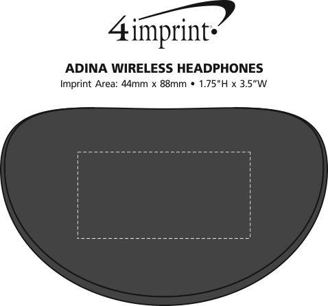 Imprint Area of Adina Wireless Headphones