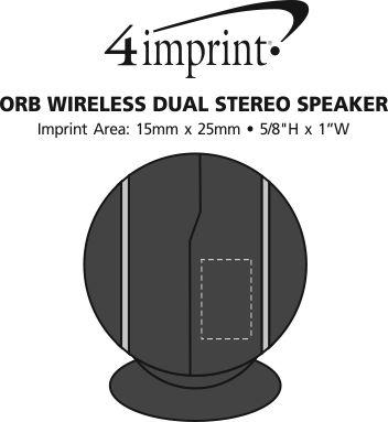 Imprint Area of Orb Wireless Dual Stereo Speaker