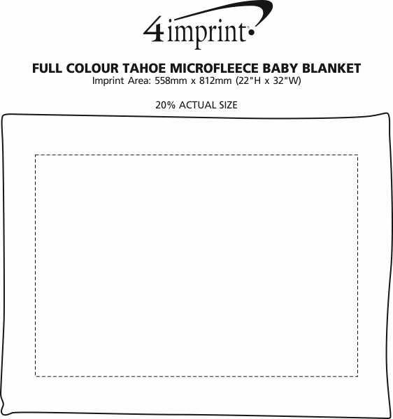 Imprint Area of Full Colour Tahoe Microfleece Baby Blanket