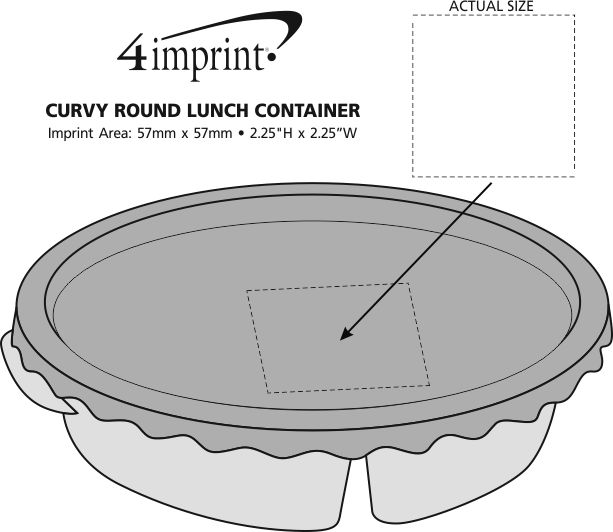 Imprint Area of Curvy Round Lunch Container