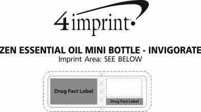 Imprint Area of Zen Essential Oil Mini Bottle - Invigorate