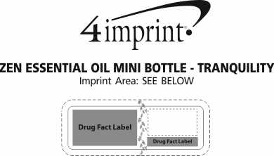 Imprint Area of Zen Essential Oil Mini Bottle - Tranquility
