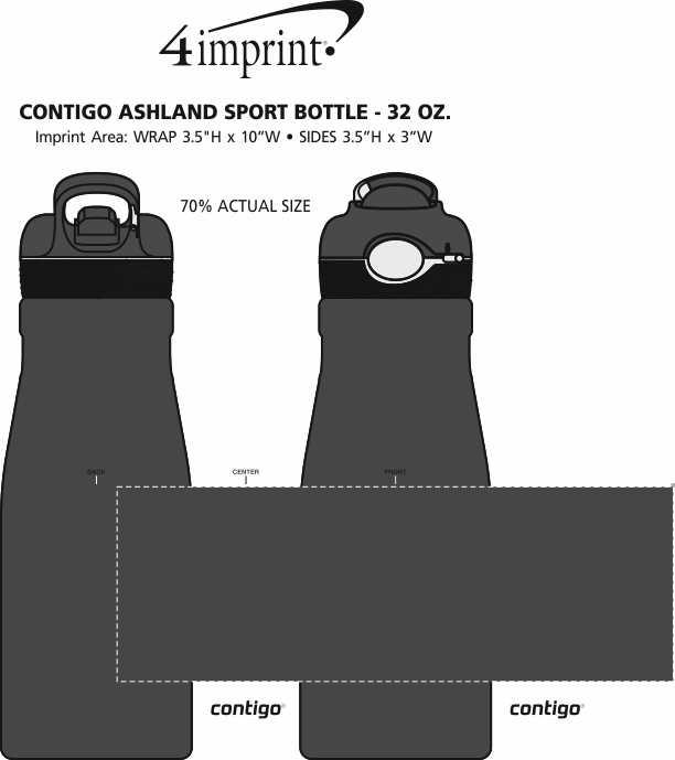 Imprint Area of Contigo Ashland Sport Bottle - 32 oz.