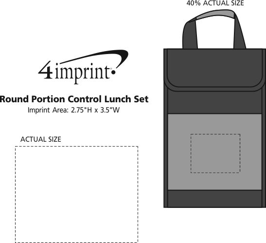 Imprint Area of Round Portion Control Lunch Set