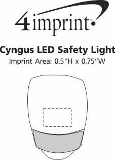 Imprint Area of Cygnus LED Safety Light