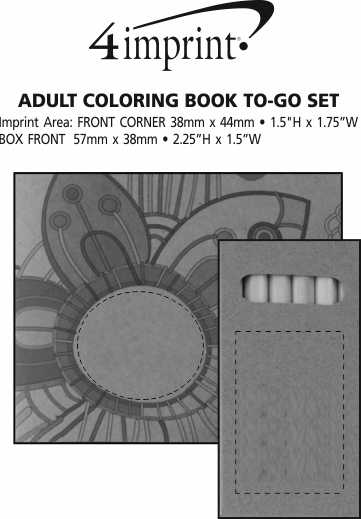 Imprint Area of Adult Colouring Book To-Go Set
