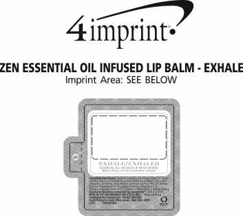 Imprint Area of Zen Essential Oil Infused Lip Balm - Exhale