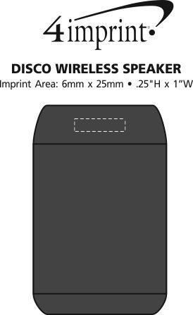 Imprint Area of Disco Wireless Speaker