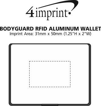 Imprint Area of Bodyguard RFID Aluminum Wallet