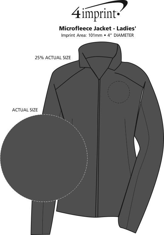 Imprint Area of Crossland Microfleece Jacket - Ladies'