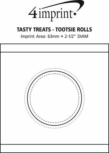 Imprint Area of Tasty Treats - Tootsie Rolls