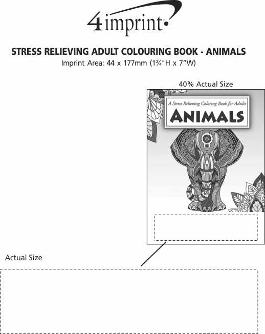 Imprint Area of Stress Relieving Adult Colouring Book - Animals
