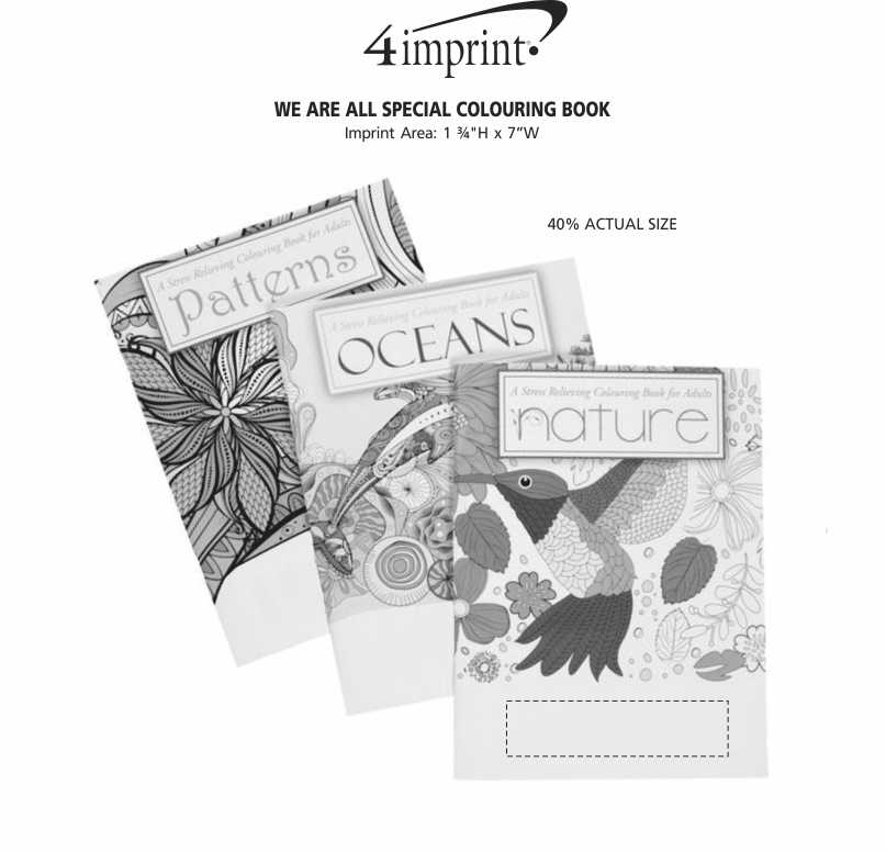 Imprint Area of Stress Relieving Adult Colouring Book Gift Set