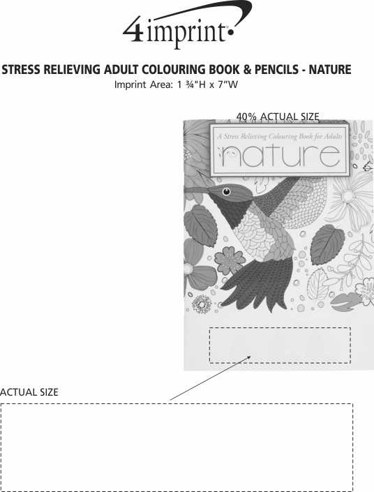 Imprint Area of Stress Relieving Adult Colouring Book & Pencils - Nature