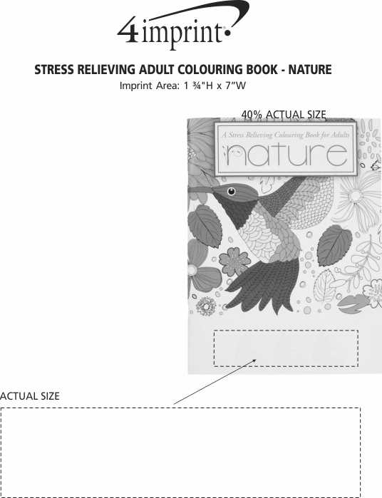 Imprint Area of Stress Relieving Adult Colouring Book - Nature