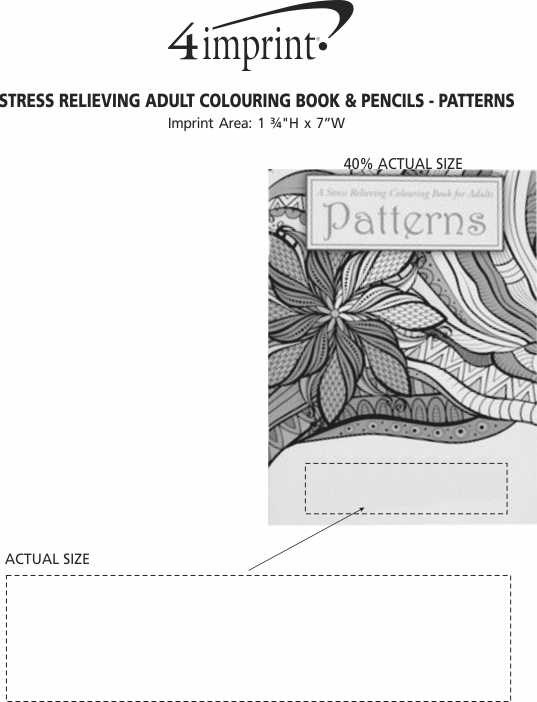 Imprint Area of Stress Relieving Adult Colouring Book & Pencils - Patterns