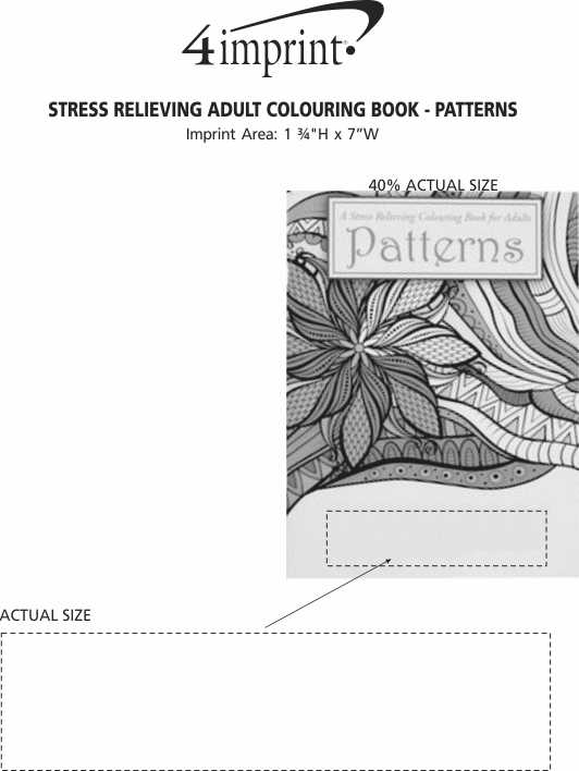 Imprint Area of Stress Relieving Adult Colouring Book - Patterns
