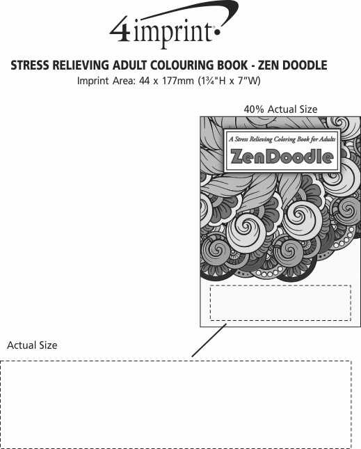 Imprint Area of Stress Relieving Adult Colouring Book - Zen Doodle