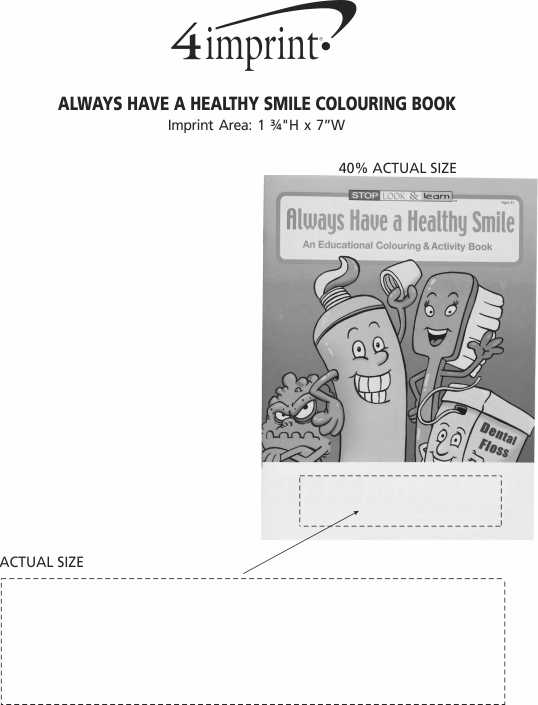 Imprint Area of Always Have a Healthy Smile Colouring Book