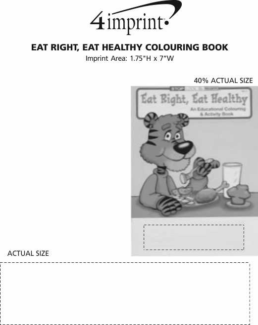 Imprint Area of Eat Right, Eat Healthy Colouring Book