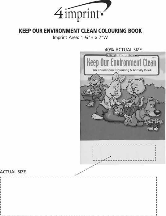 Imprint Area of Keep Our Environment Clean Colouring Book