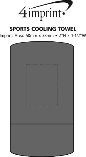 Imprint Area of Sports Cooling Towel