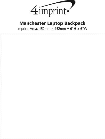 Imprint Area of Manchester Laptop Backpack