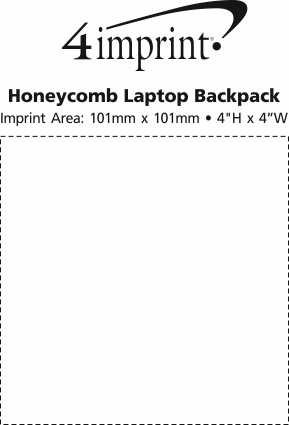 Imprint Area of Honeycomb Laptop Backpack