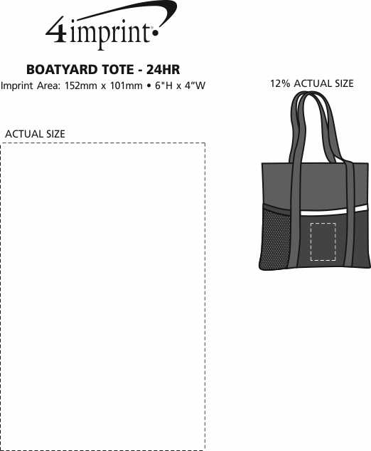 Imprint Area of Boatyard Tote