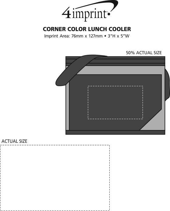 Imprint Area of Corner Colour Lunch Cooler