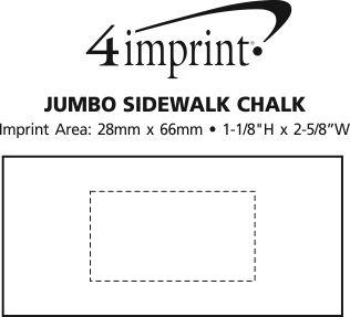 Imprint Area of Jumbo Sidewalk Chalk