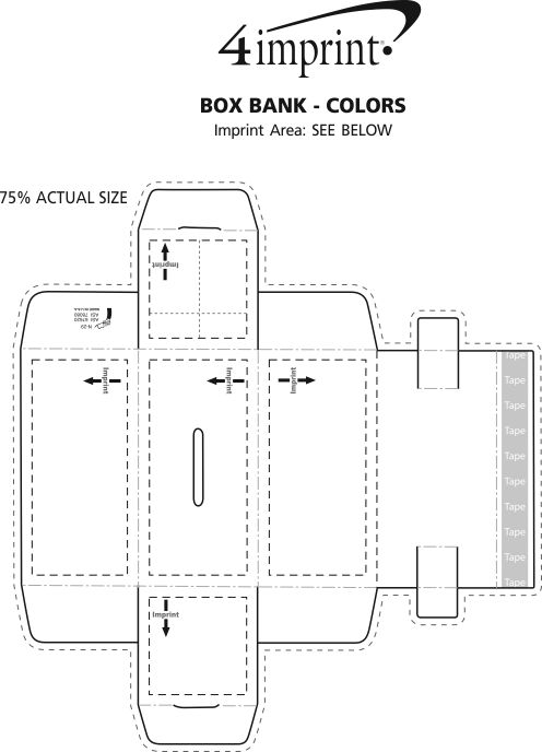 Imprint Area of Box Bank - Colours