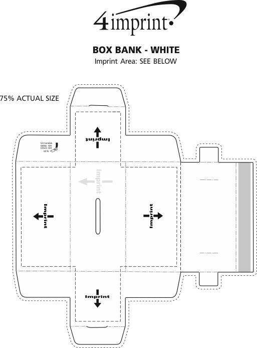 Imprint Area of Box Bank - White