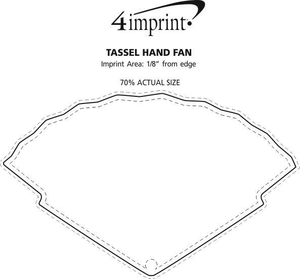 Imprint Area of Tassel Hand Fan