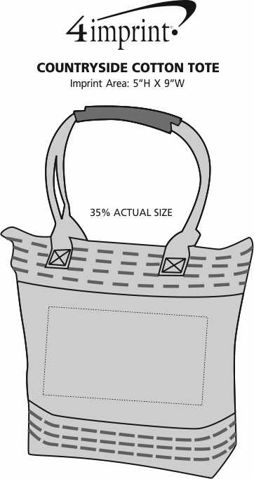 Imprint Area of Countryside Cotton Tote
