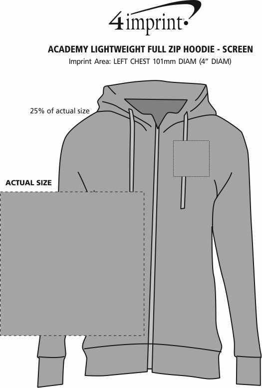 Imprint Area of Academy Lightweight Full-Zip Hoodie - Screen