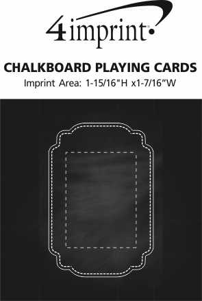 Imprint Area of Chalkboard Playing Cards