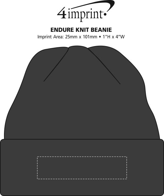Imprint Area of Endure Cuffed Knit Toque