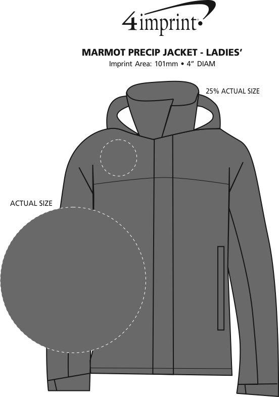 Imprint Area of Marmot PreCip Jacket - Ladies'