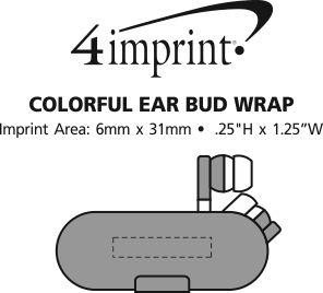 Imprint Area of Colourful Ear Bud Wrap