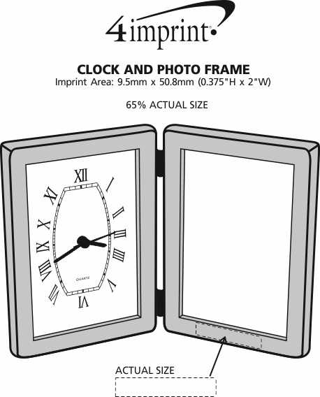 Imprint Area of Clock and Photo Frame
