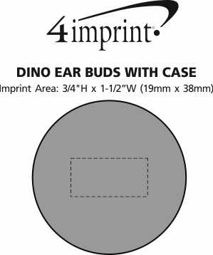 Imprint Area of Dino Ear Buds with Case