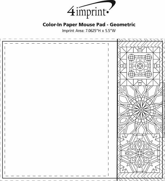 Imprint Area of Bic Colour-In Paper Mouse Pad - Geometric
