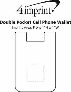 Imprint Area of Double Pocket Cell Phone Wallet