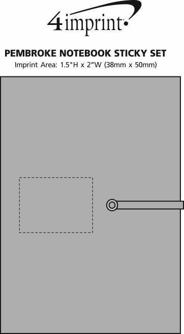 Imprint Area of Pembroke Notebook Sticky Set
